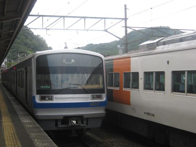 201109_185系_伊豆箱根鉄道の車両とともに