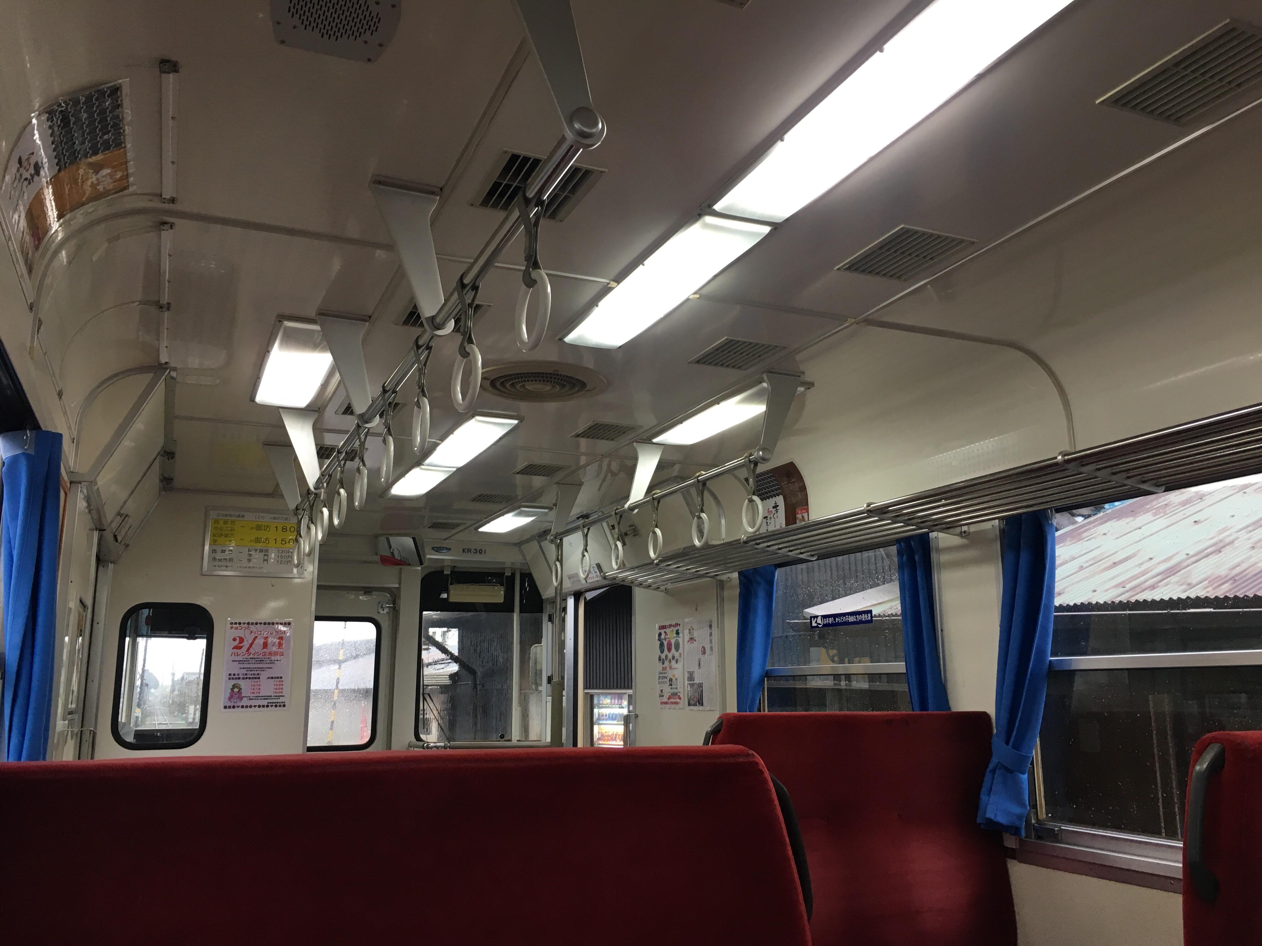 201802_紀州鉄道車内