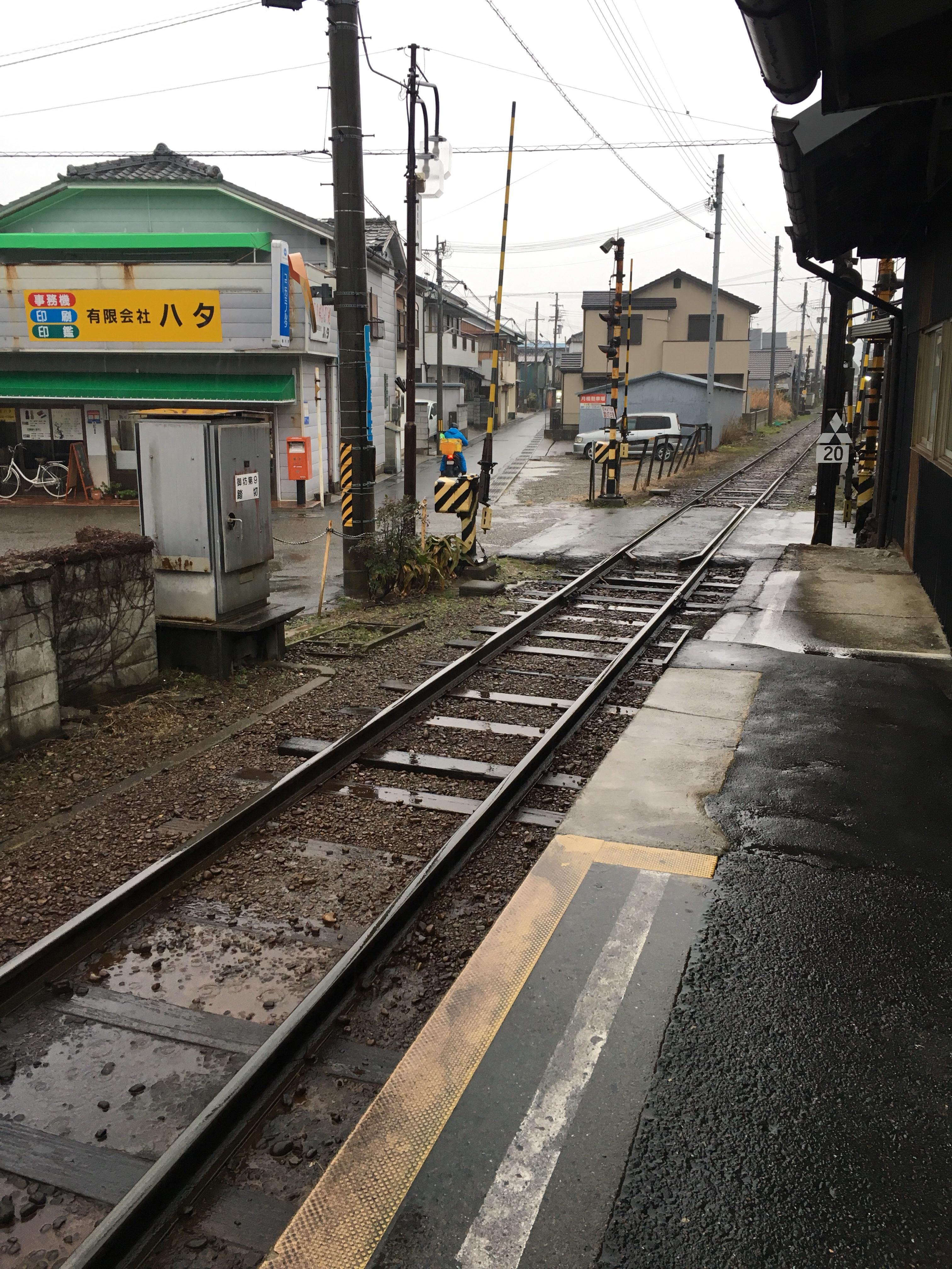201802_西御坊駅から御坊方面を望む